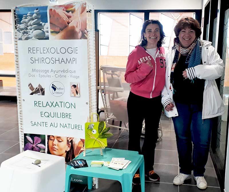Sylvie THOMAS votre praticienne en Réflexologie et Massage ayurvédique Shiroshampi pour club sportif